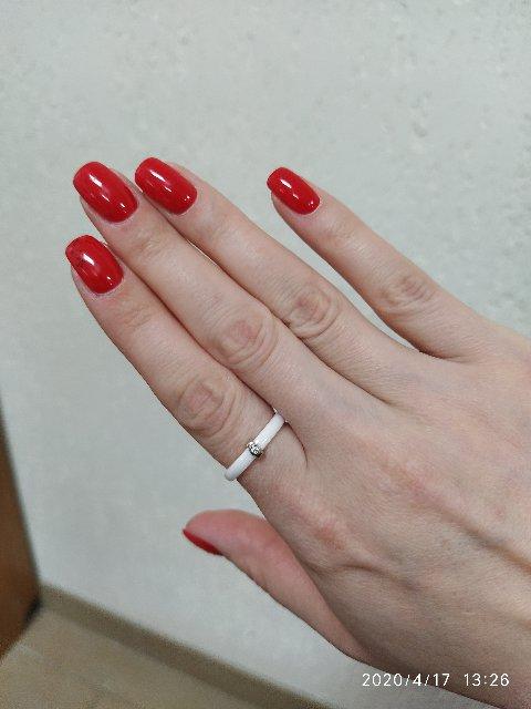 Белое кольцо керамика