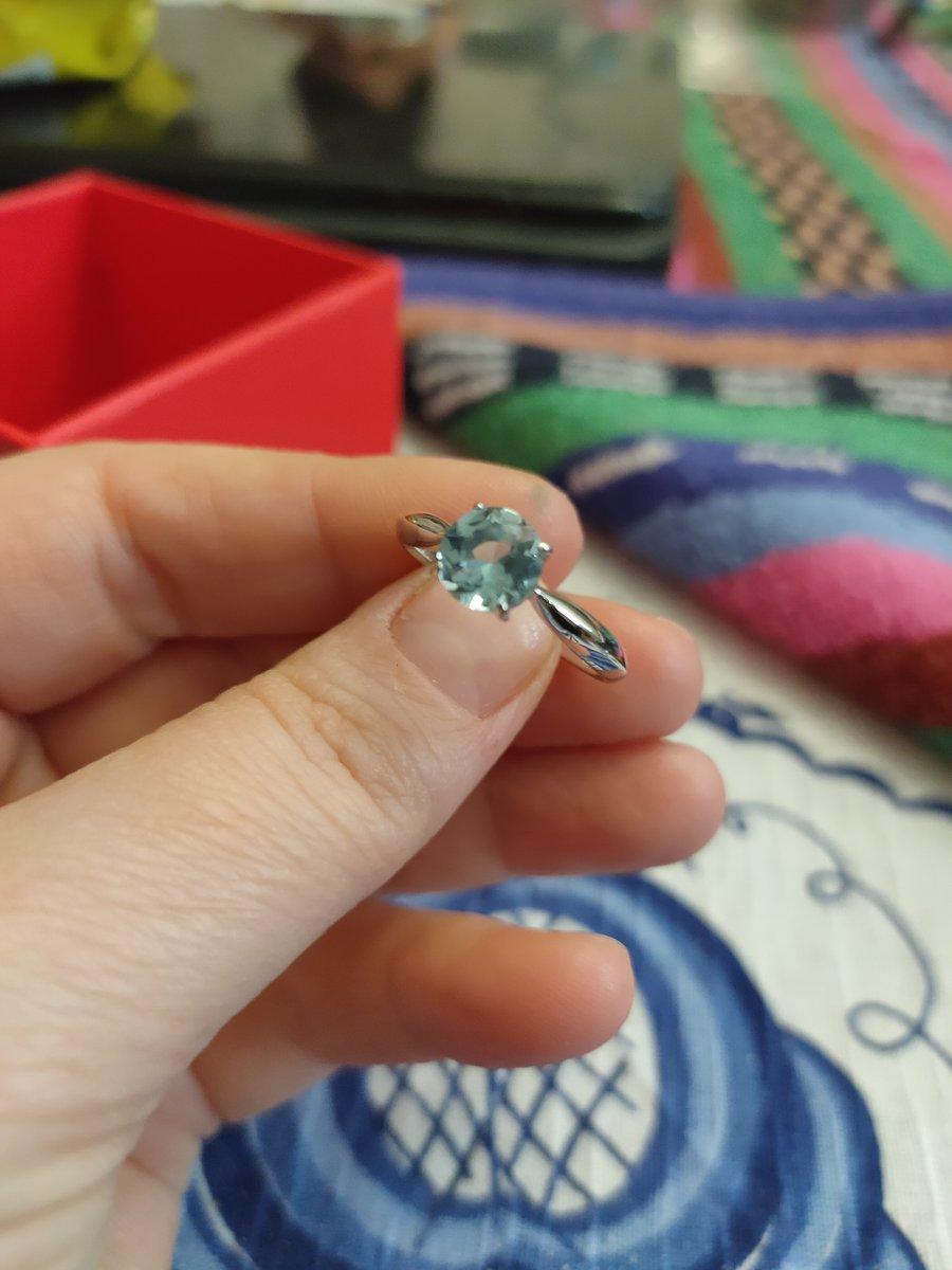 Кольцо с топазам