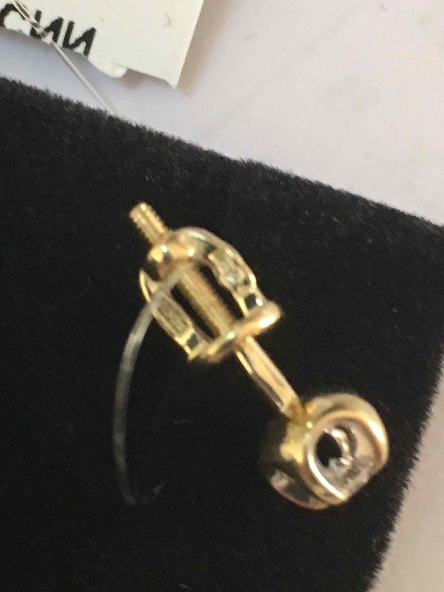 Пусеты из желтого золото с бриллиантами