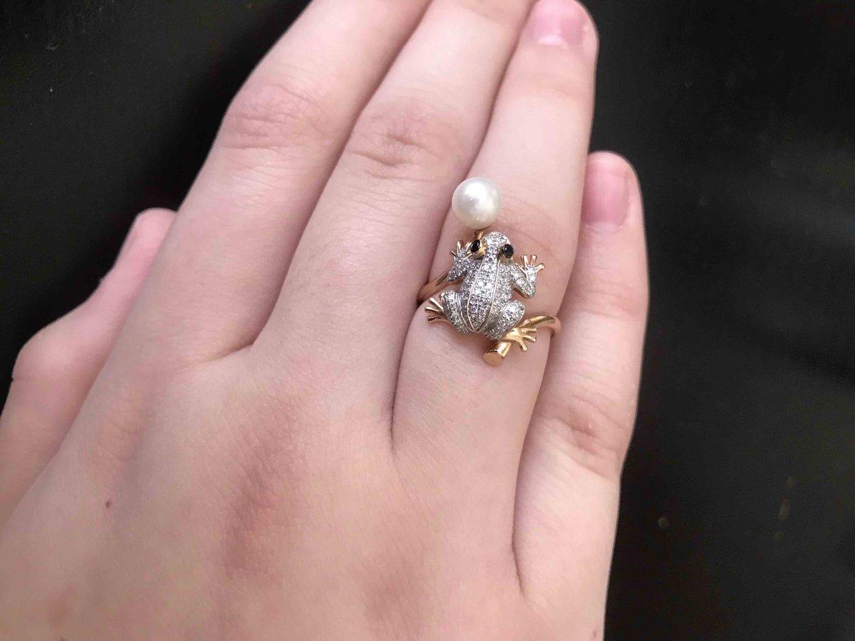Золотое колечко лягушка