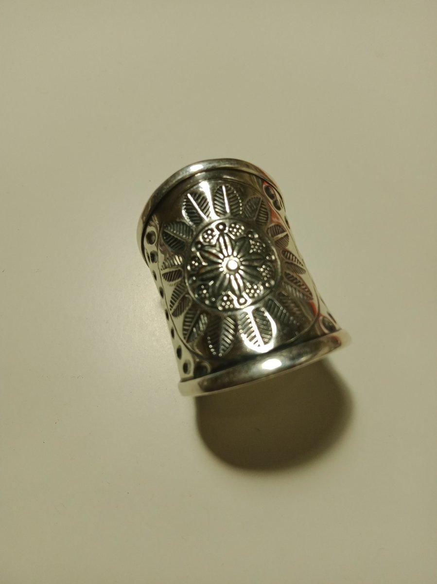 Серебряное БОХО- кольцо