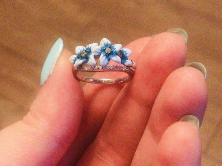 Кольцо: серебро+фианиты