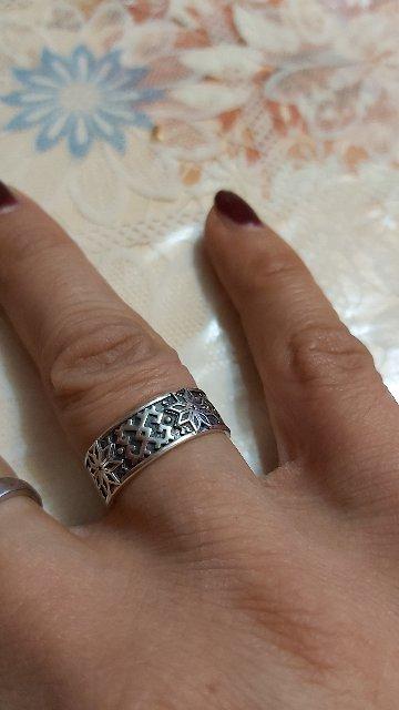 Кольцо серебряное оберег