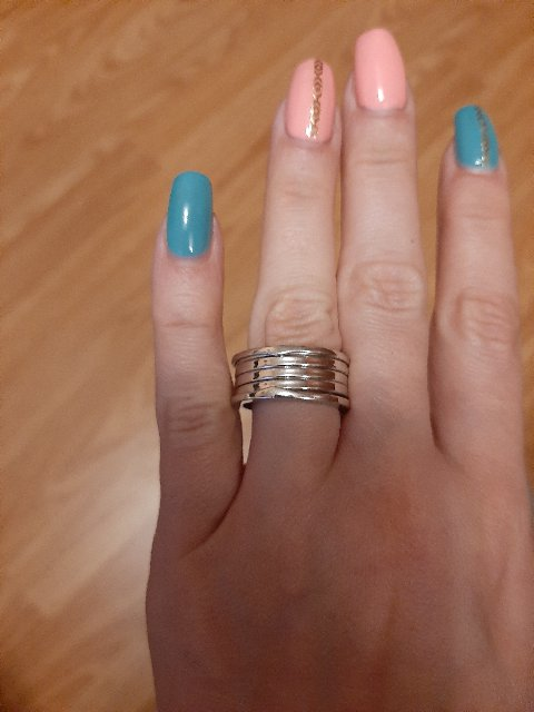 Кольцо массивное из серебра