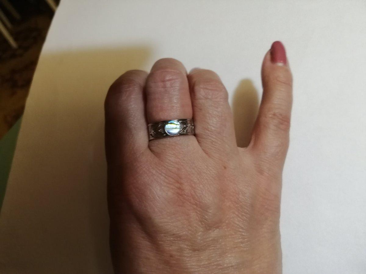 Кольцо с ракушкой.