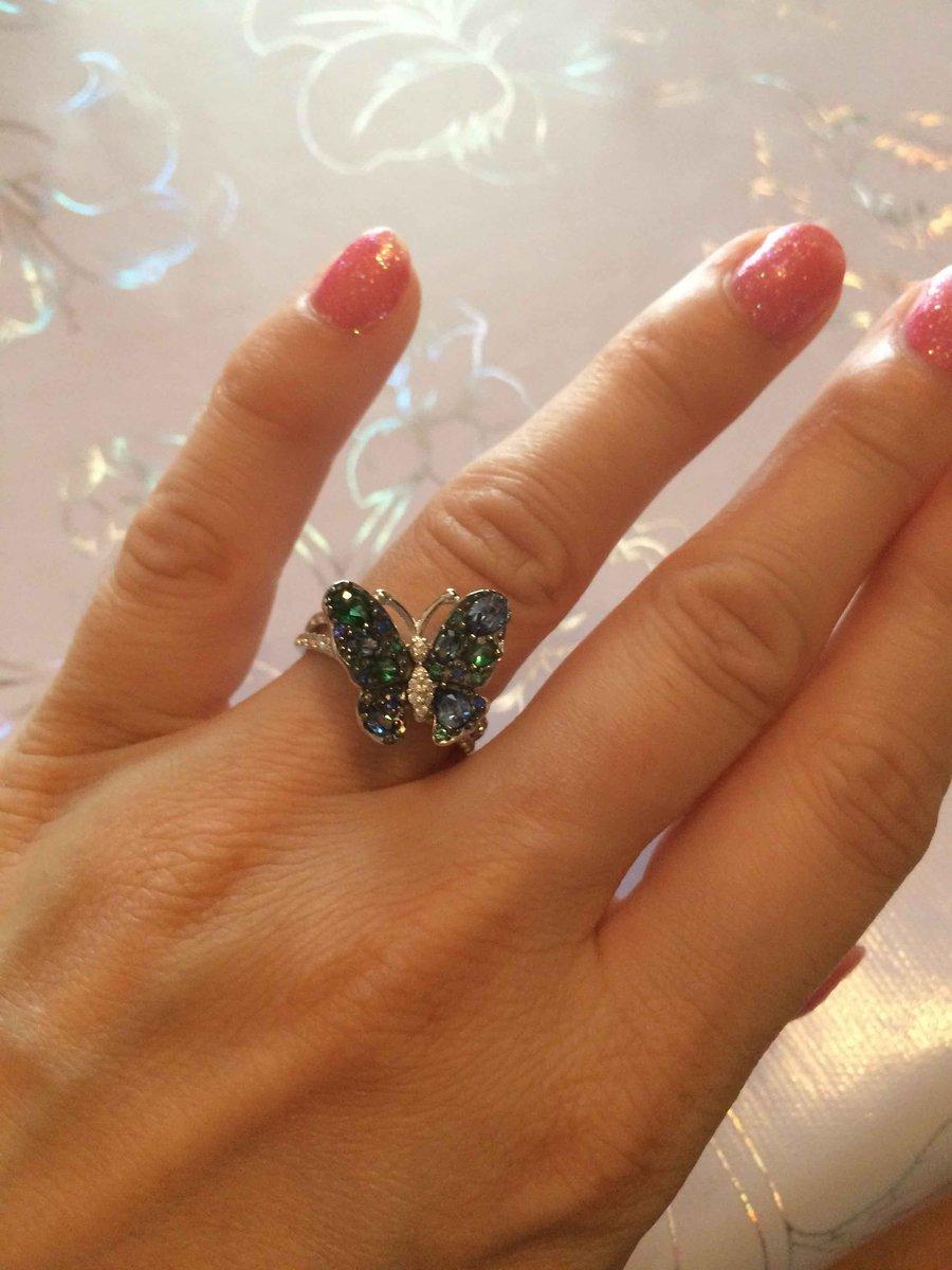 Колечко с бабочкой