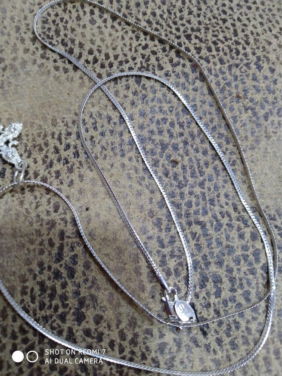 Серебряная цепь 60 сантиметров артикул81743.
