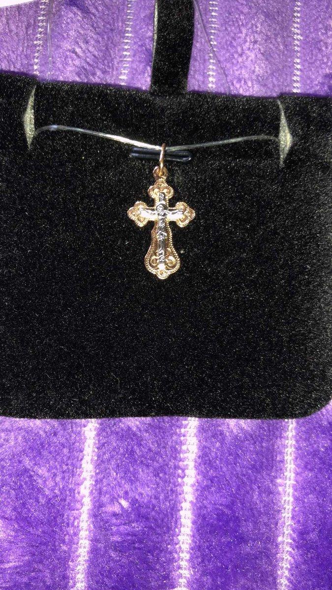 Золотой крестик на крестины приецессе