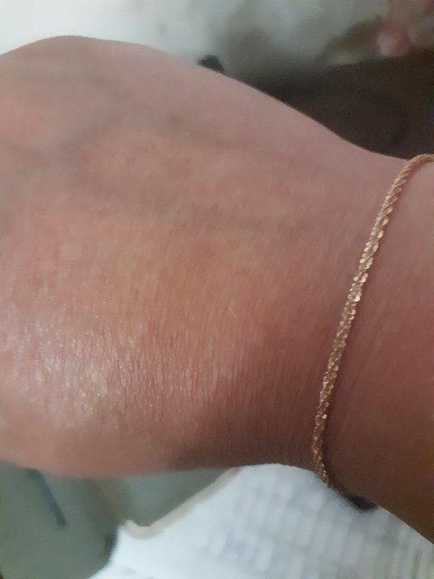 Цепочка из серебра под золото