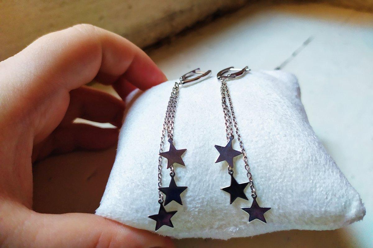 Сережки со звёздами.