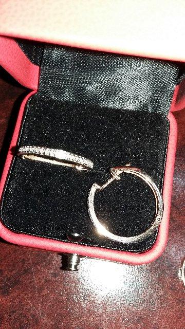Серьги с бриллиантовой крошкой