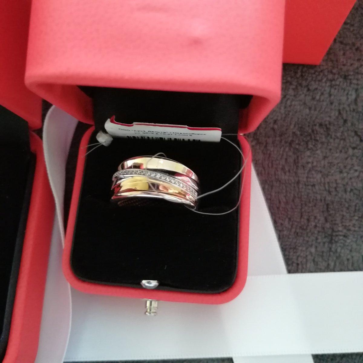 Золотое кольцо с сережками.