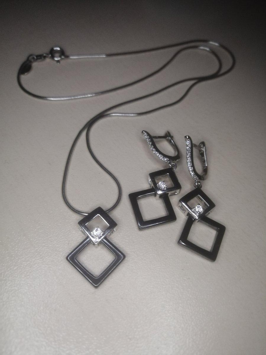 Подвеска серебро с керамикой
