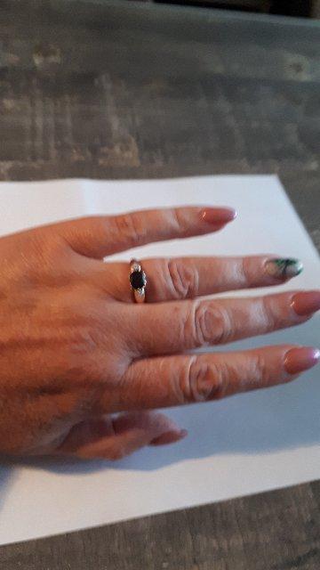 Пзолоченное серебряное кольцо с раухтопазом.