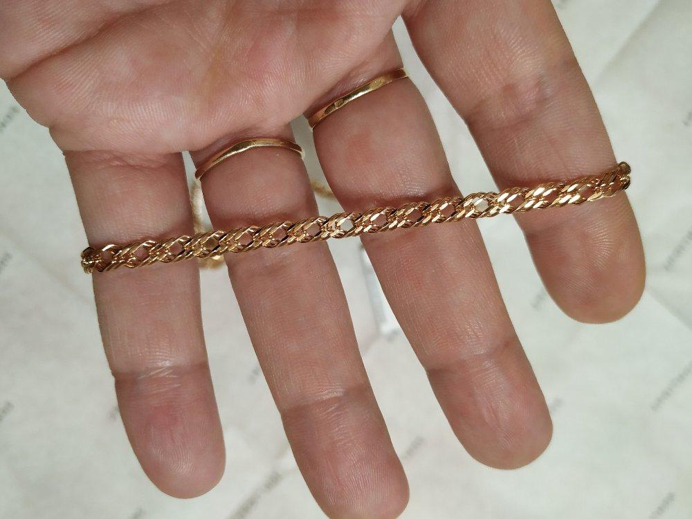 Серебряная,позолоченная цепочка