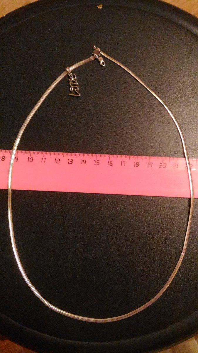 Серебряная цепь плоского плетения
