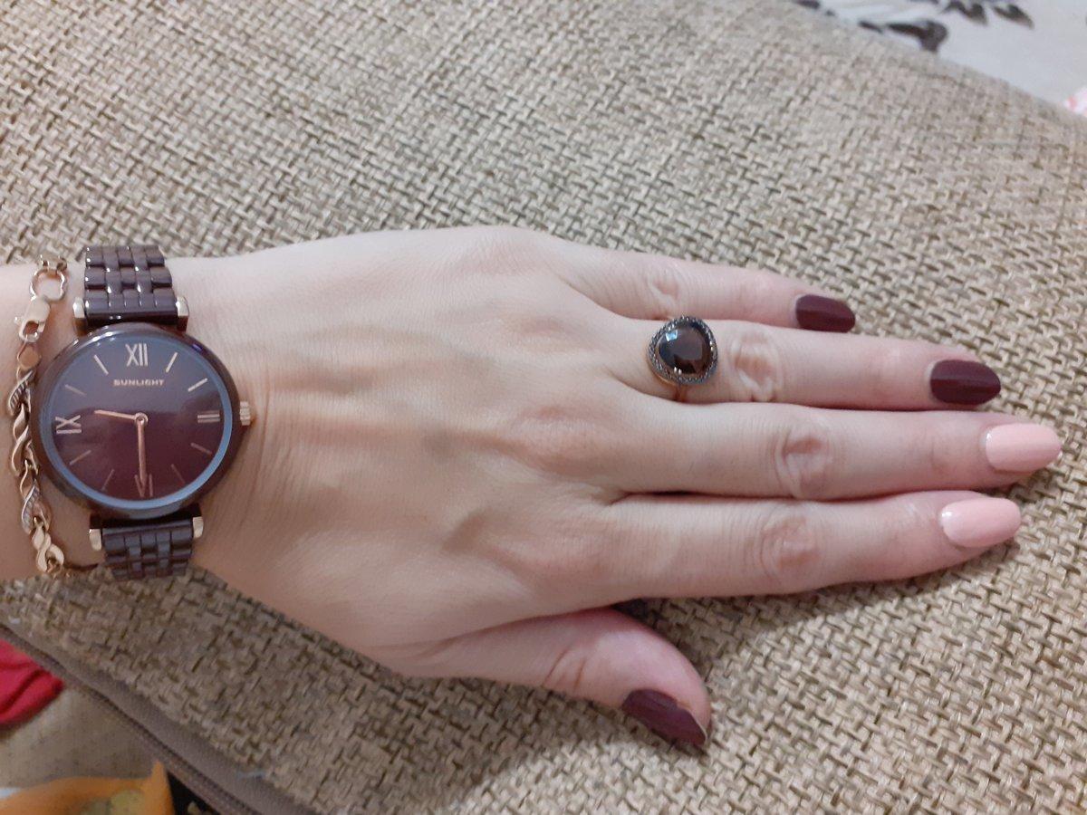 Красивое кольцо с раухтопазом