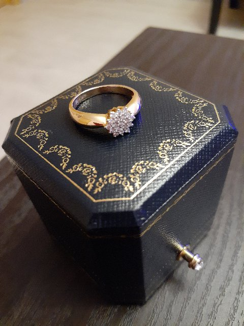 Моё колечко с бриллиантами