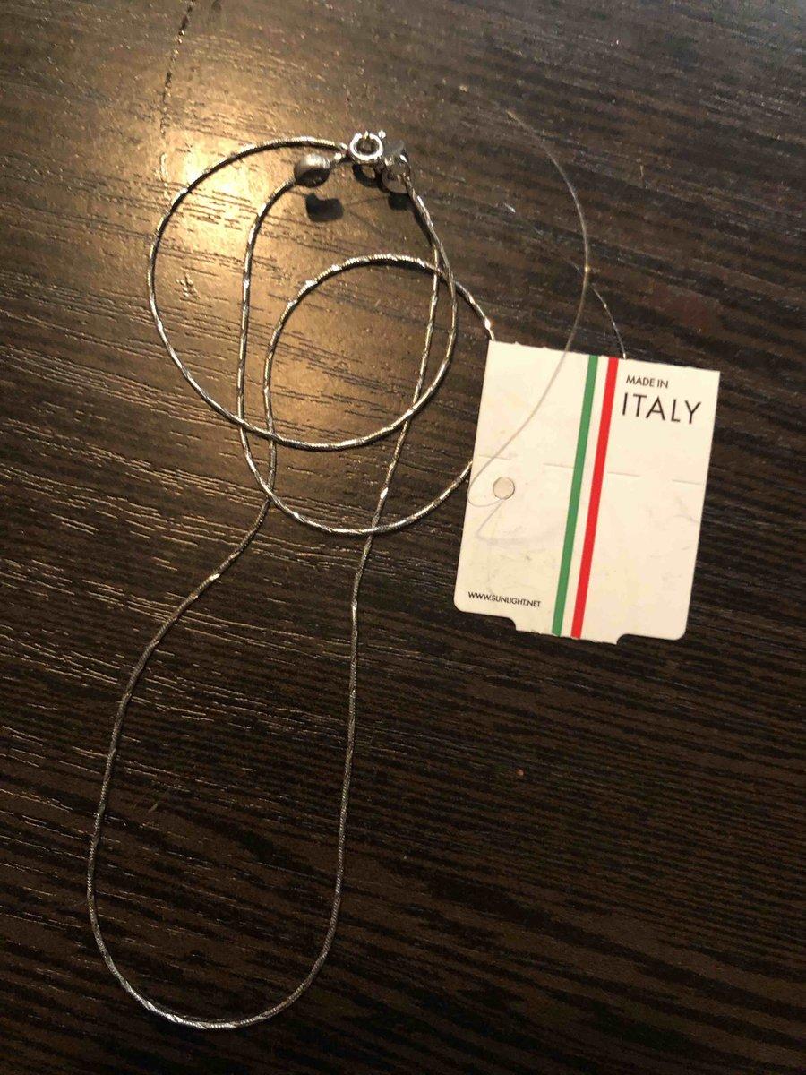 Покупка серебрянной цепочки италия