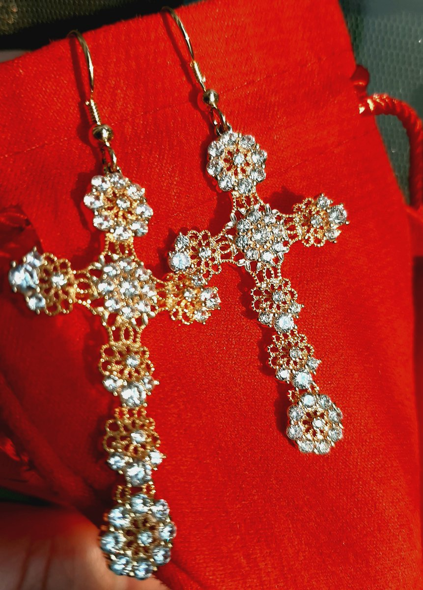 Серебряные серьги-кресты ажурные