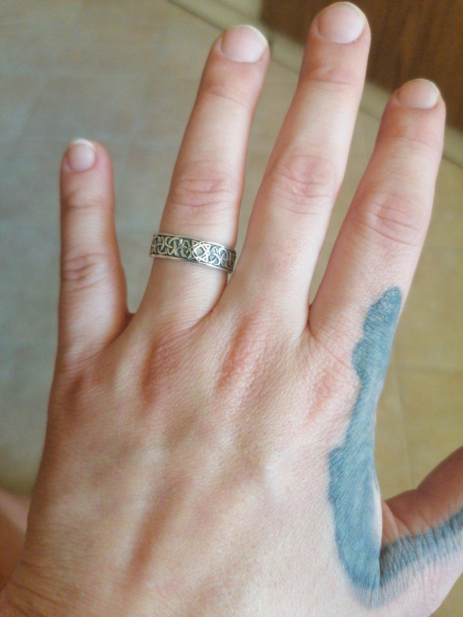 Серебряное кольцо-оберег звезда руси