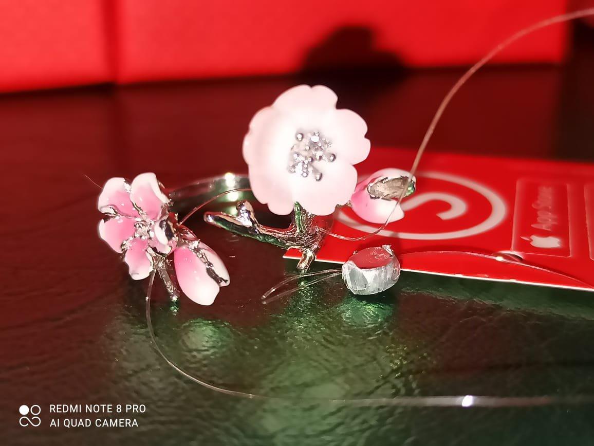 Кольцо с сакурой