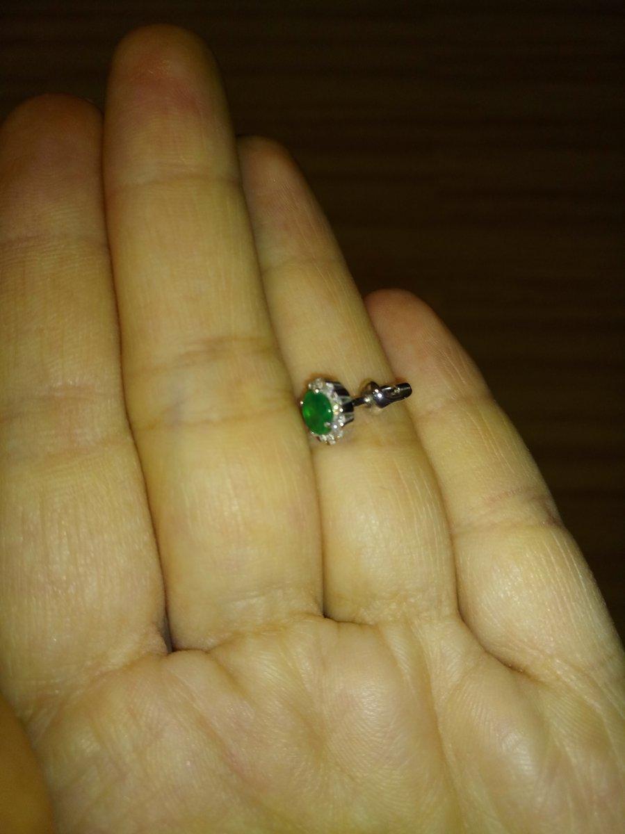 Серьги, серебро, зелёный агат, фианиты