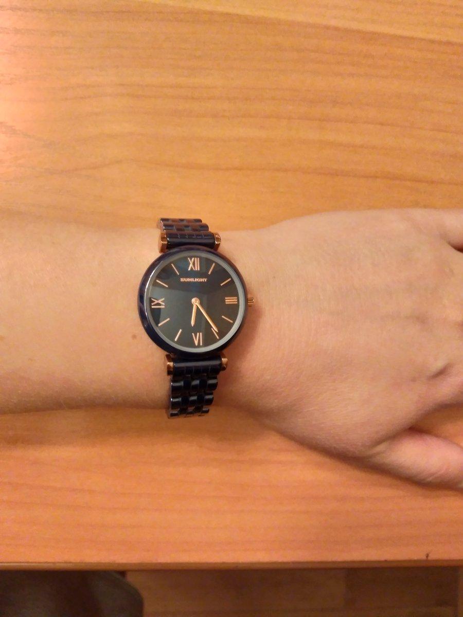 Часы синие керамические