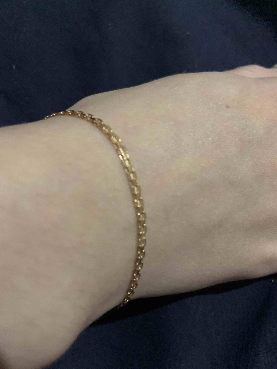 Золотой браслет для средней дочери на четырнадцатилетие !