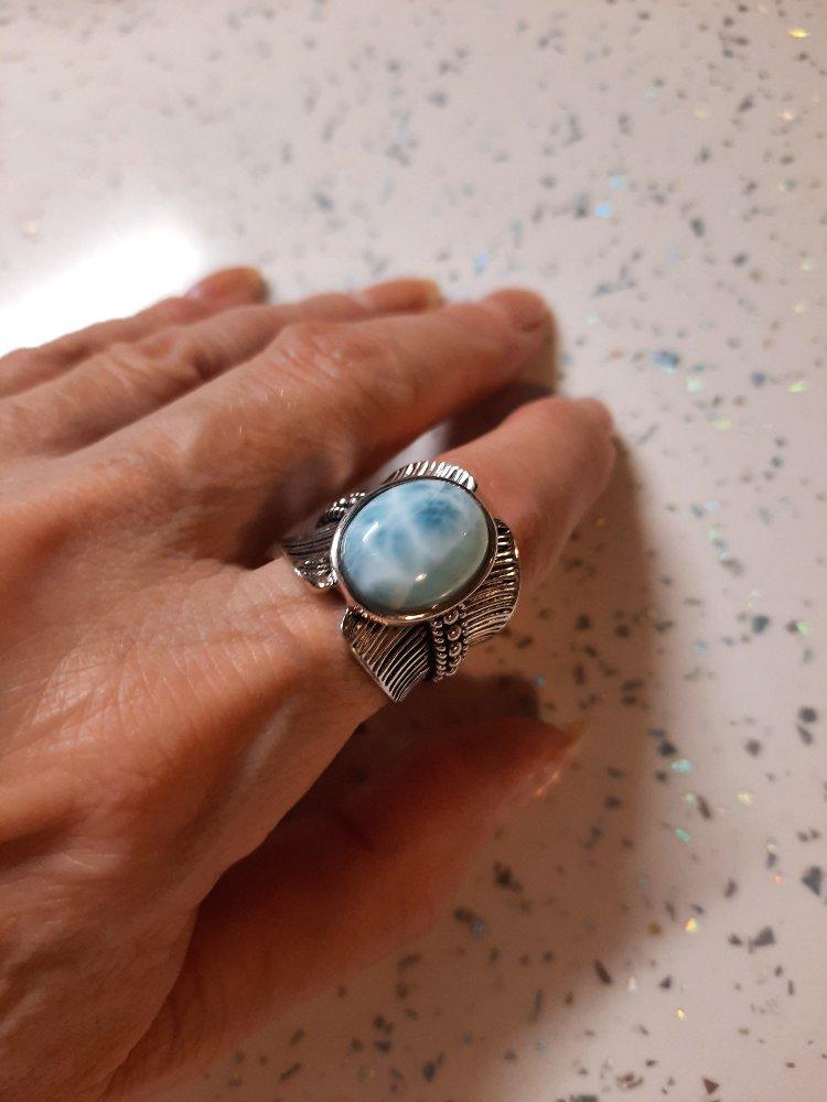 Кольцо с ларимаром.
