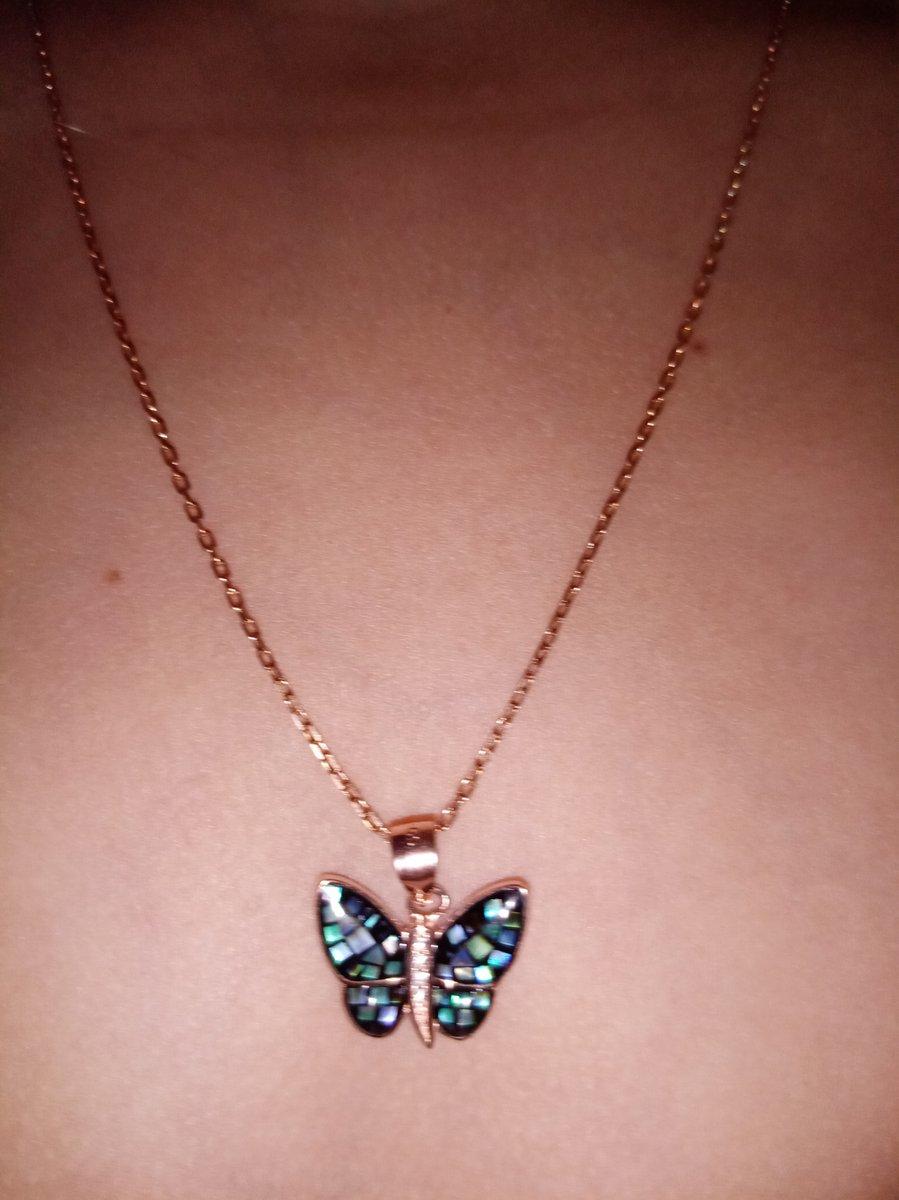 Подвеска бабочка с цепочкой