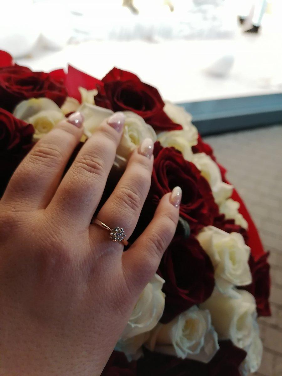 Делал предложение, с этим кольцом сказала да!!!