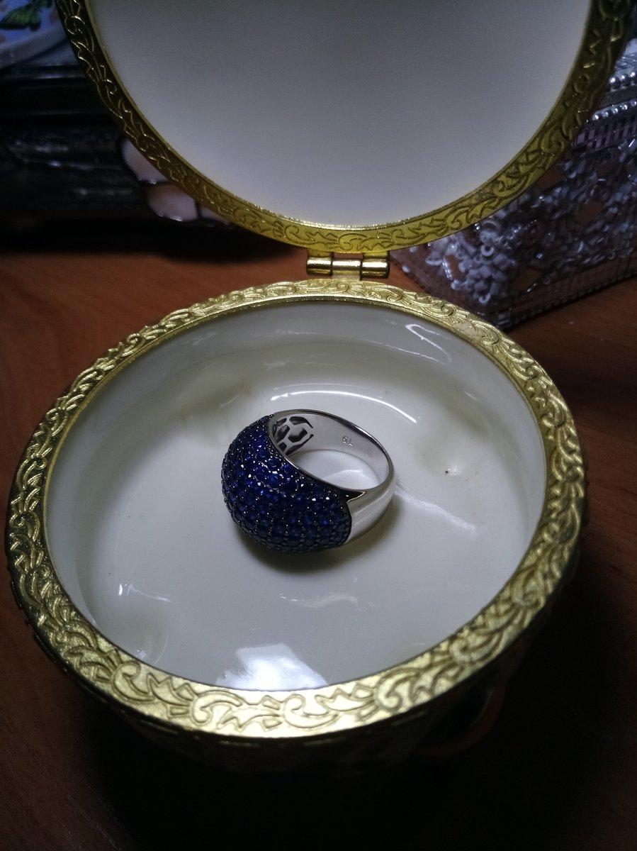 Серебряное кольцо с ыианитом