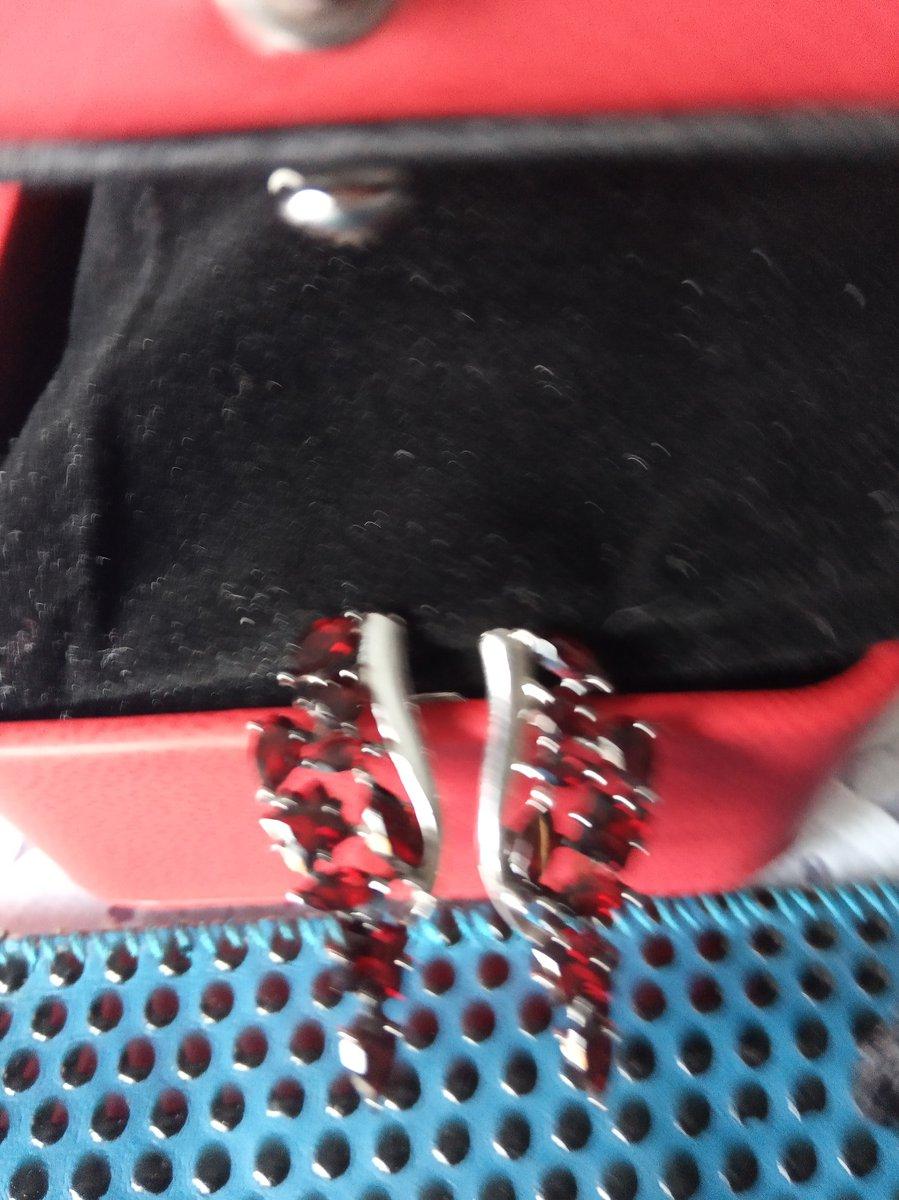 Здравствуйте, посмотрите какие красивые серьги с гранатом,серебро,когда их