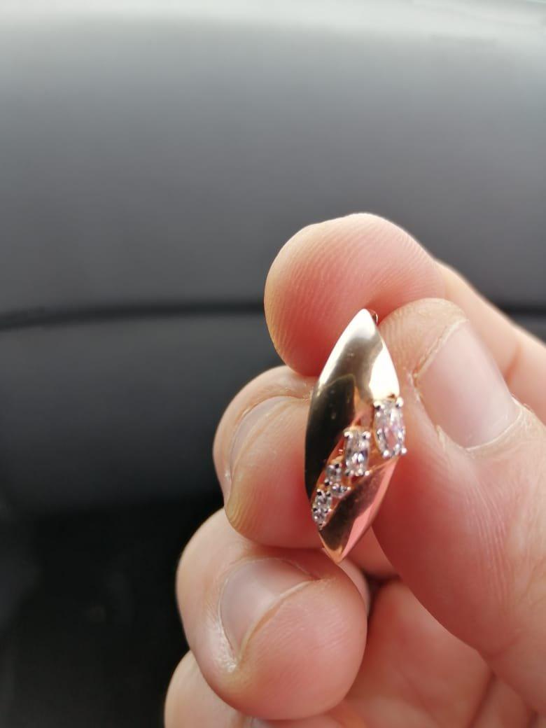 Серьги крупные, серебро покрыто позолотой