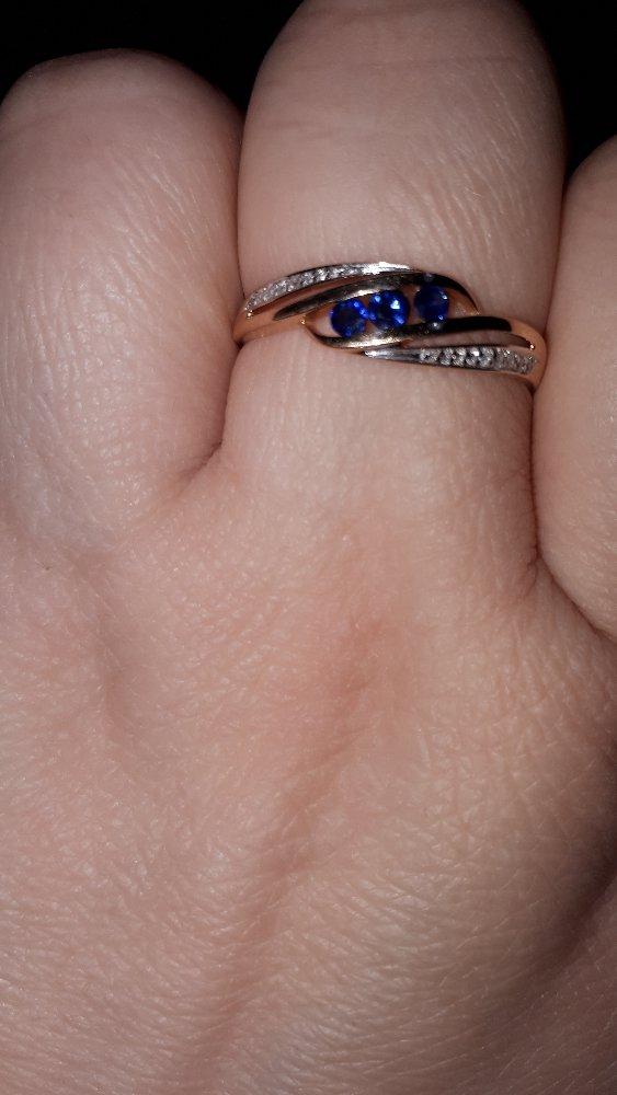 Кольцо с сапфирами и брилиантиками