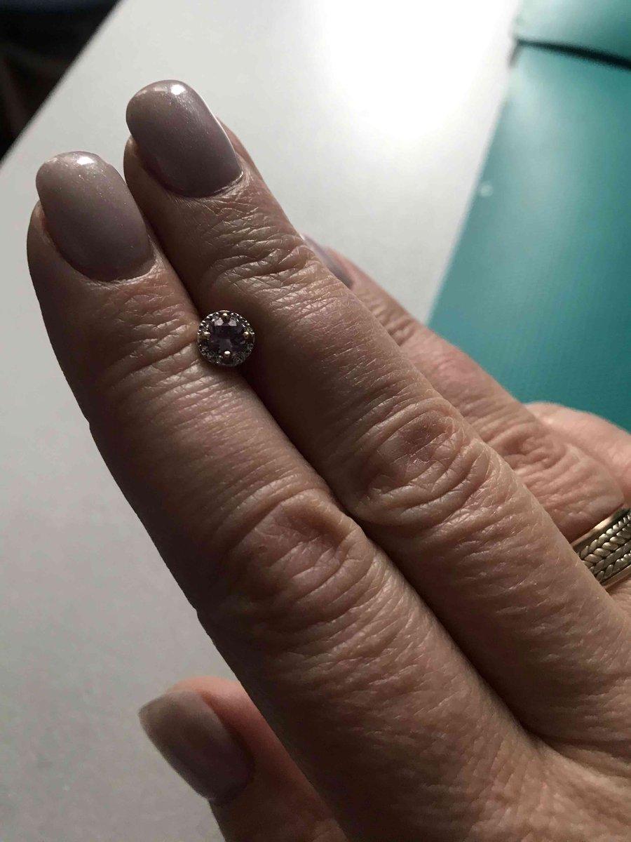 Серьги с аметистом и бриллиантами!