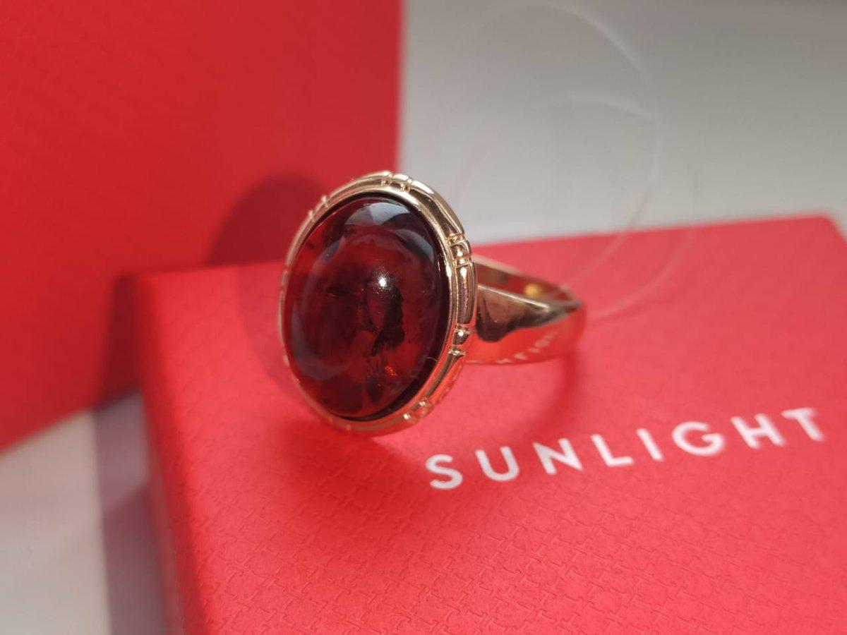 Кольцо серебряное с янтарём.
