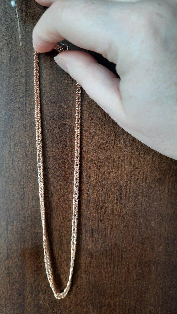 Цепочка серебро с позолотой