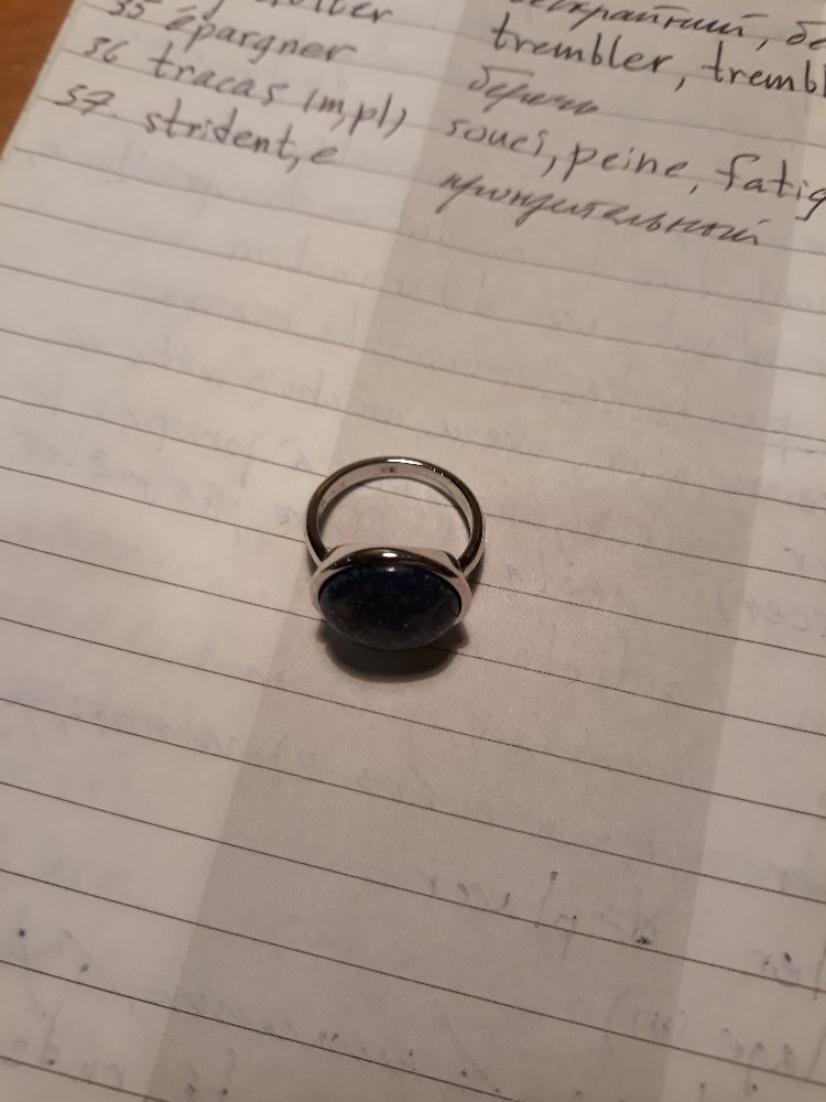 Кольцо из серебра с лазуритом