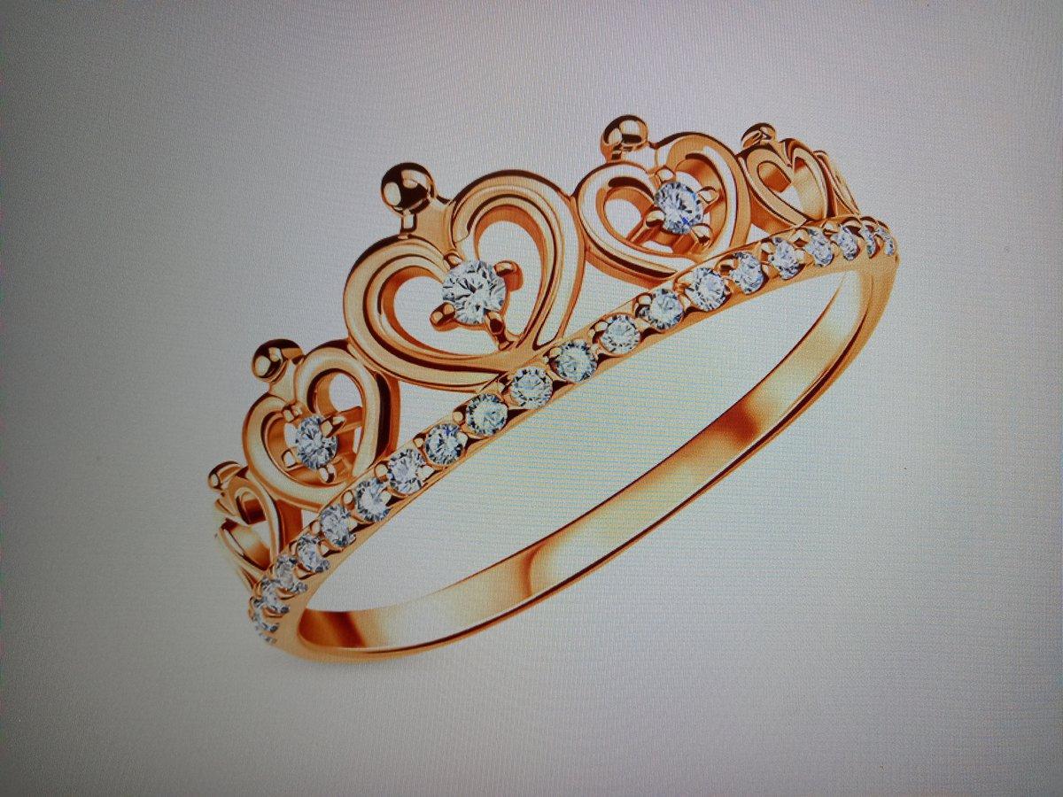Колечко в виде короны