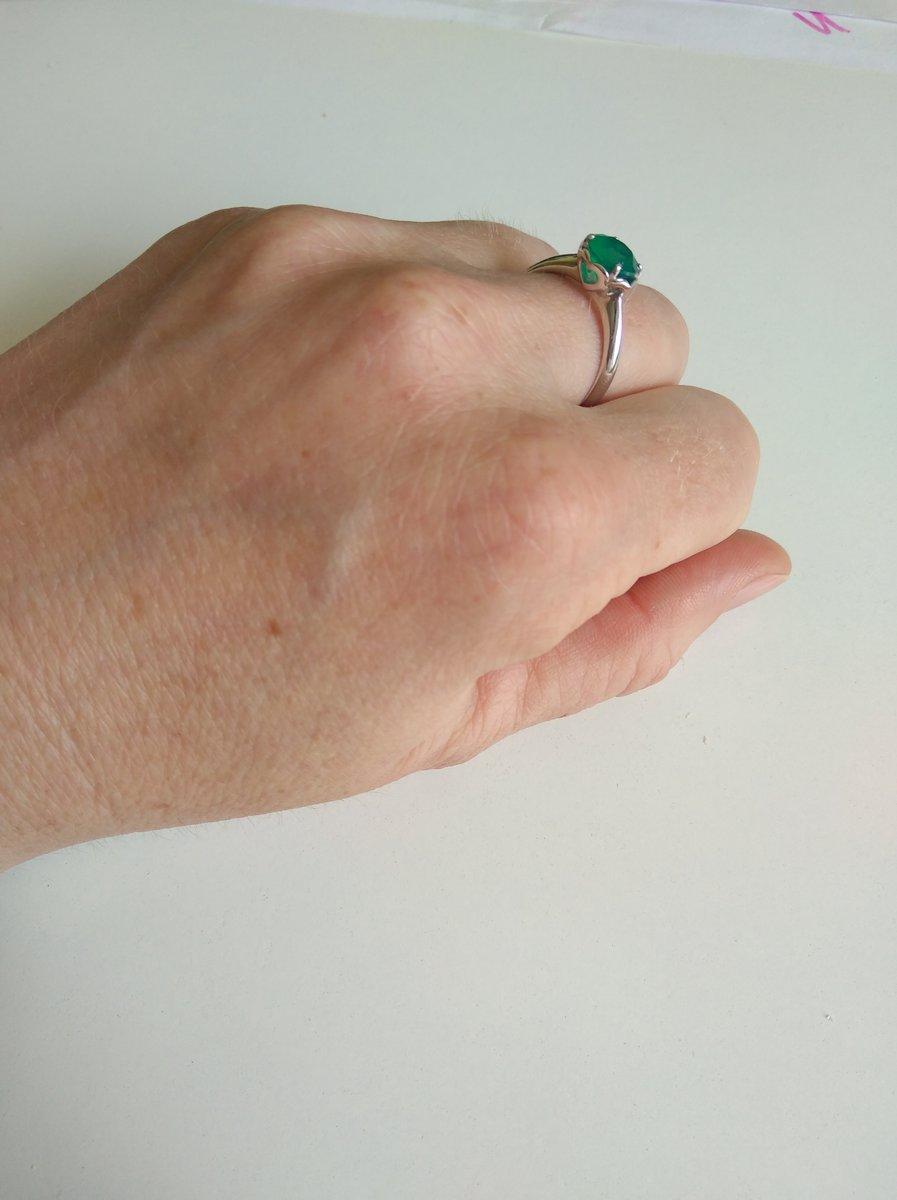 Хорошее кольцо с агатом