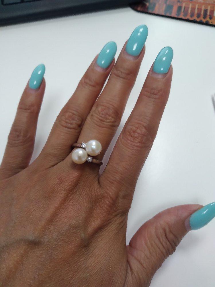 Серебренное кольцо с жемчугом