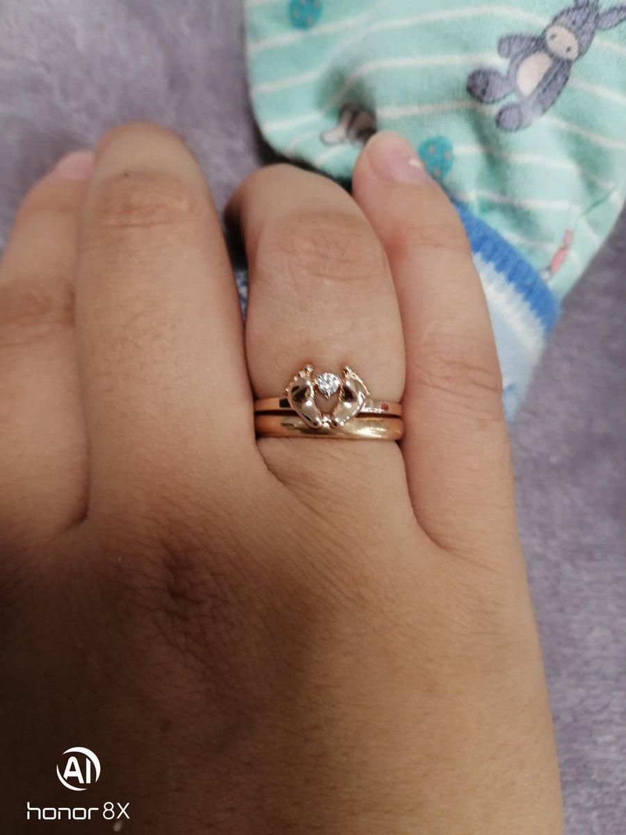 Кольцо с пяточками