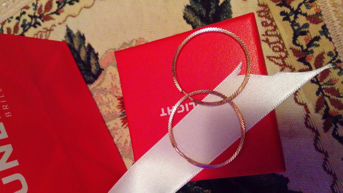 Серьги золотые, классические кольца