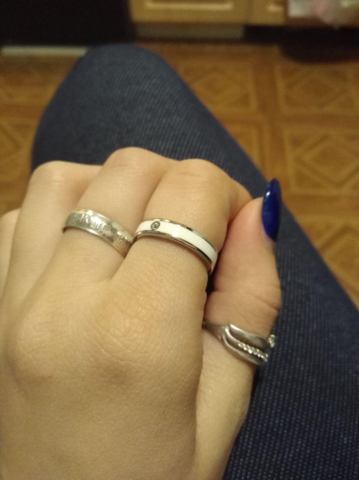 Кольцо с глазурью