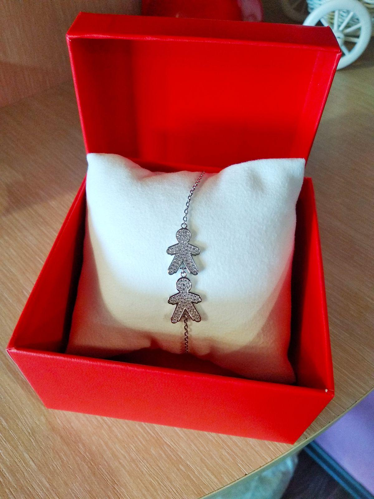 Серебряный браслет для мамы двух мальчишек.