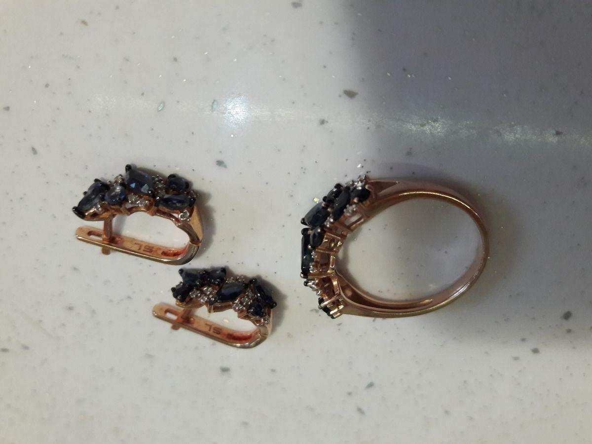 Кольцо и серьги