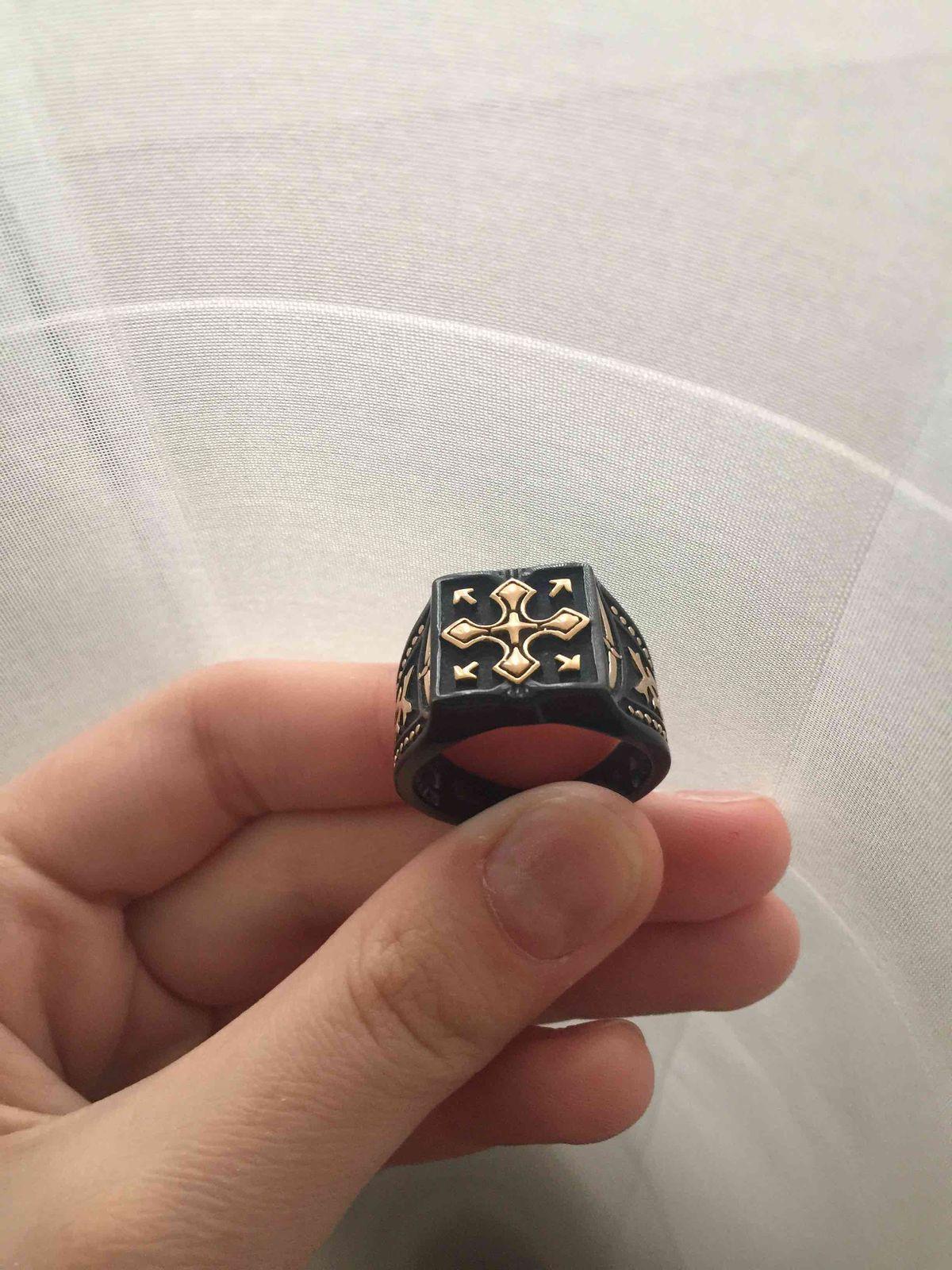 Стальное, мужское кольцо