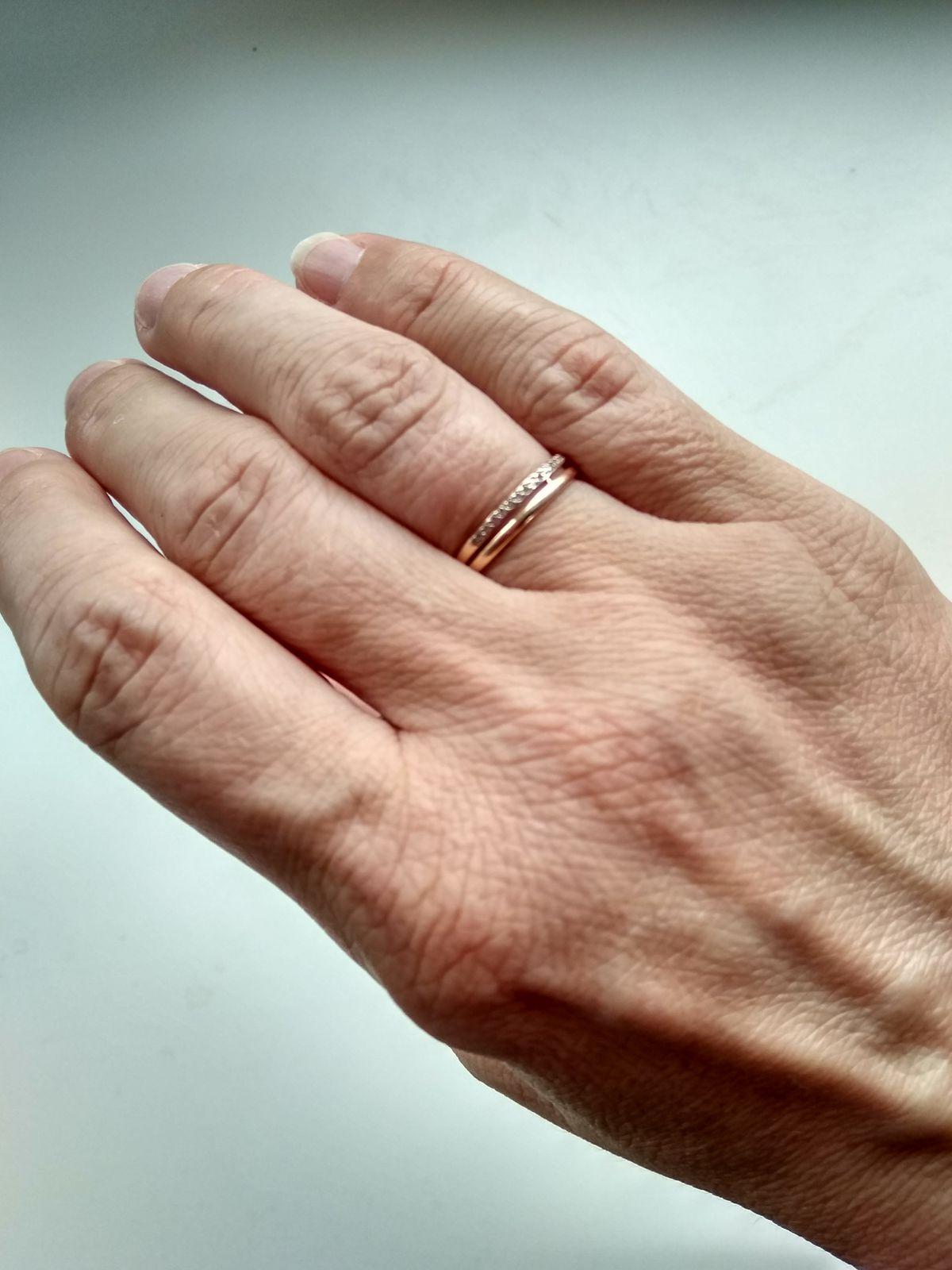 Кольцо золото с фианитами